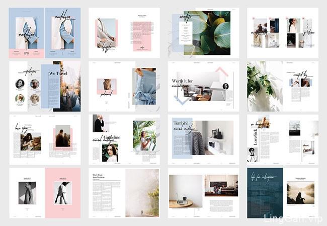 Madelynn时尚杂志版式设计