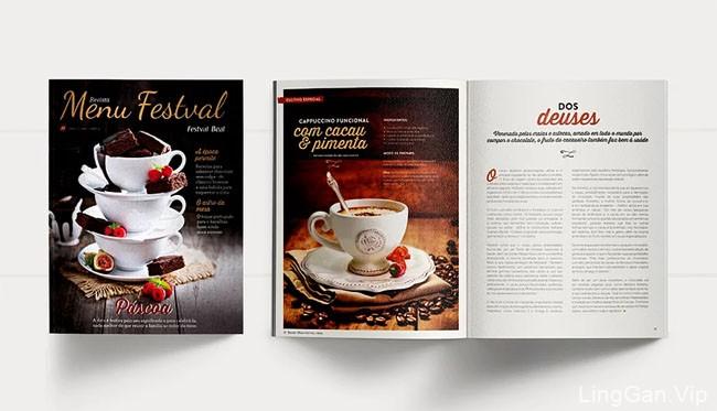 Menu Festval美食杂志设计
