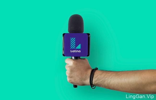 国外Latina TV电视台新版品牌形象设计