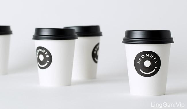 国外Bronuts咖啡与甜甜圈品牌视觉识别设计欣赏
