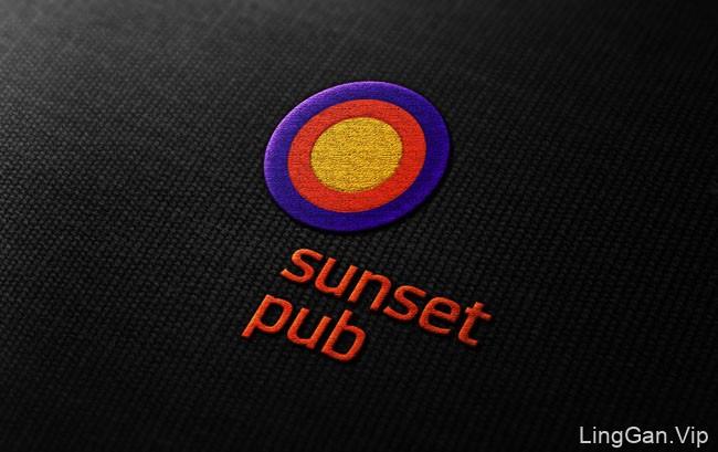 国外Sunset pub日落酒吧VI设计
