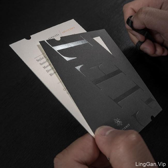国外Art+Science发型设计品牌形象VI设计欣赏