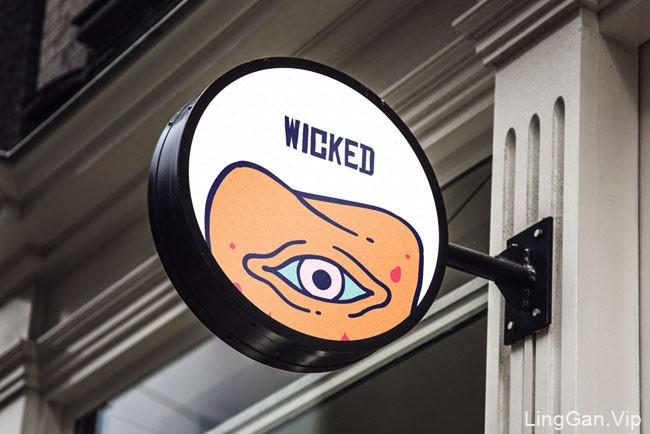 国外风格另类的Wicked现代咖啡馆形象VI设计