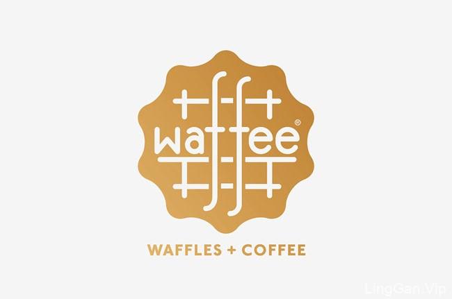 墨尔本Waffee华夫饼和咖啡Coffe品牌VI设计