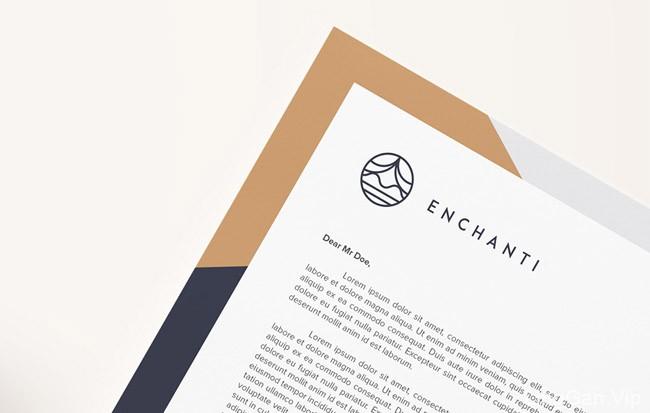 国外Enchanti化妆品护理品牌VI设计整理