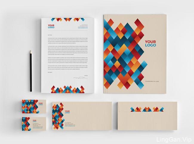 收集的国外一组漂亮的实用企业VI设计模板分享