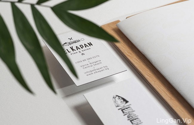 国外El Kapan海鲜和烧烤餐厅品牌形象VI设计