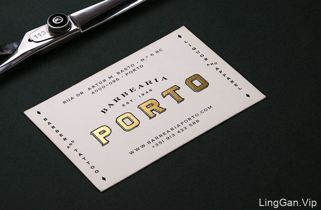 葡萄牙BarbeariaPorto理发店视觉形象VI设计