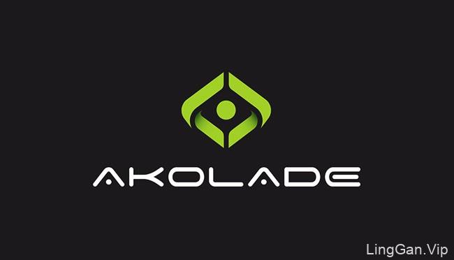 国外Akolade投资咨询公司墨绿色企业VI设计分享