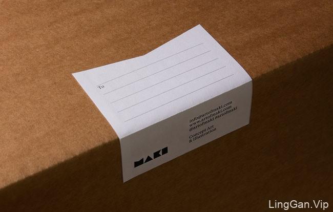 国外Maki美术插画艺术品牌视觉形象VI设计展示