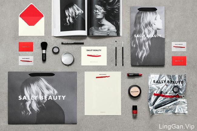 国外Sally Beauty美容护理企业品牌VI形象设计