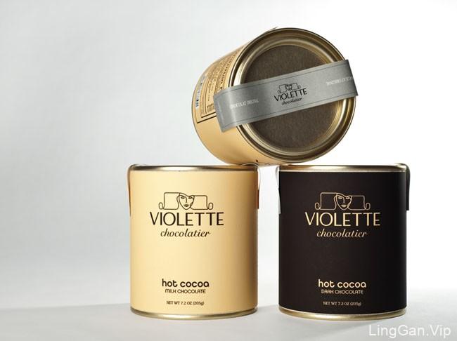 国外Violette巧克力品牌企业VI形象设计展示