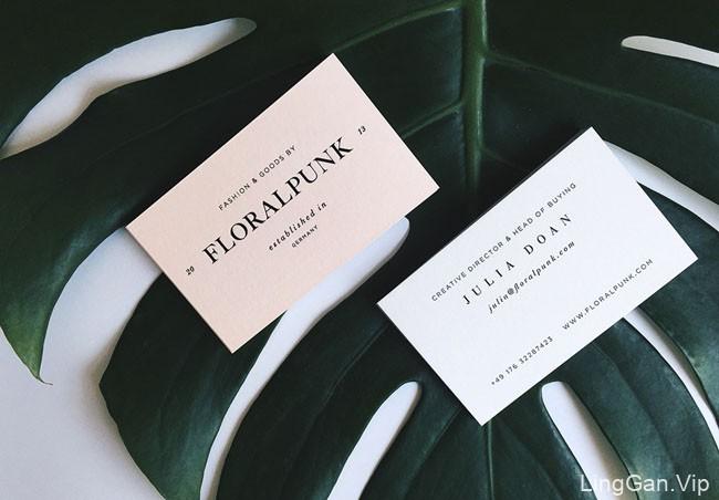 国外Floralpunk珠宝企业品牌VI设计分享