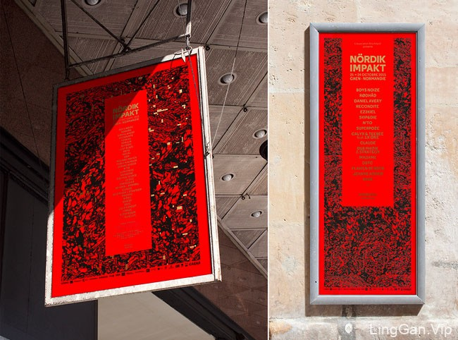 国外Nordik Impakt文化节17周年视觉形象VI设计