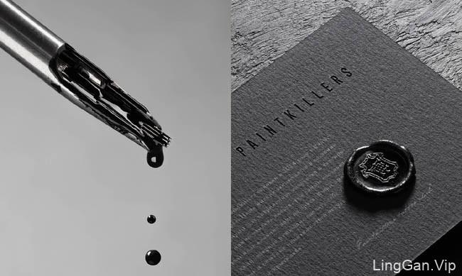 黑色经典Paintkillers纹身俱乐部形象VI设计30P
