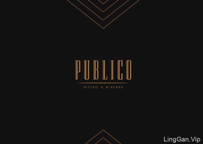 国外餐饮业特别精致的Publico餐厅视觉形象VI设计欣赏