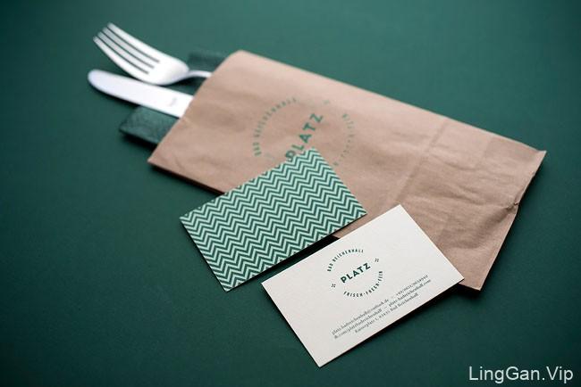 国外餐饮行业PLATZ咖啡茶餐厅VI形象设计分享