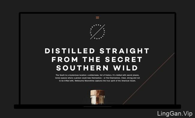 国外MelbourneMoonshine酒业品牌形象VI设计