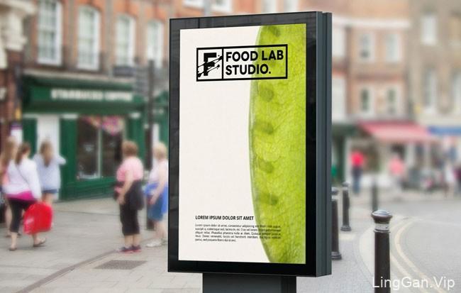 国外FOOD LAB STUDIO美食烹饪实验室VI形象设计