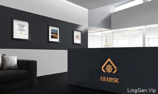 国外VI设计-Arabisk财务咨询公司品牌设计分享