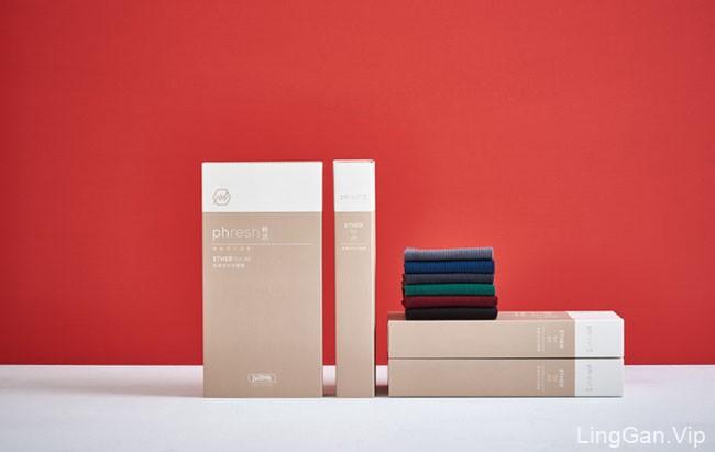 国外VI设计-Phresh袜子品牌视觉形象设计欣赏