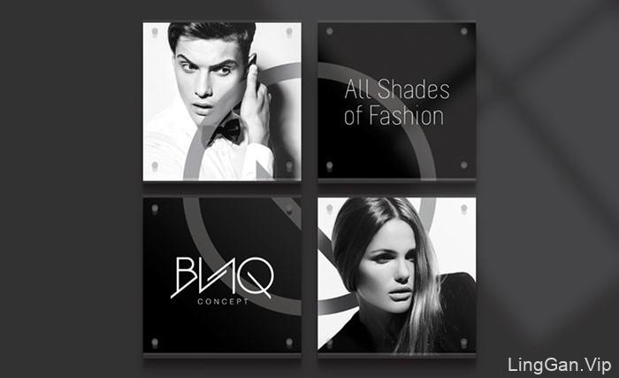 国外VI设计BLAQ时尚中心形象设计分享12P