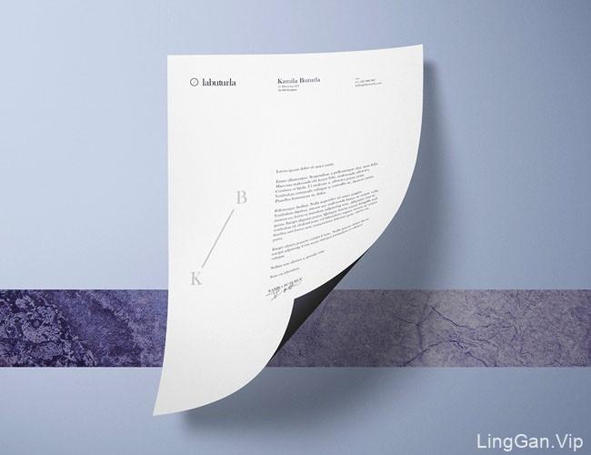 国外VI设计清新风格的labuturla摄影品牌企业形象