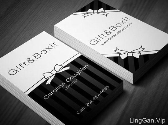 漂亮的黑白名片设计欣赏