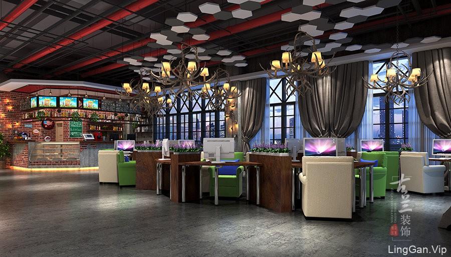 峨眉山专业特色网咖设计公司--古兰装饰-沉淀时光网咖设计