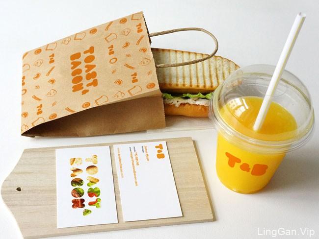国外Toast & Bacon快餐厅品牌形象vi设计