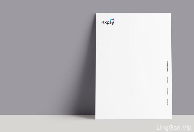 国外flxpay在线支付品牌蓝白版VI设计作品