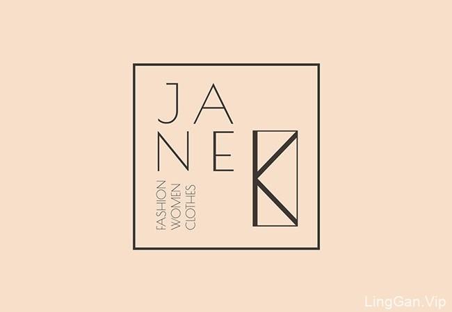 国外Jane K年青女装品牌形象设计VI