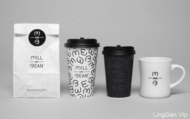 国外Mill And Bean咖啡烘焙餐厅形象vi设计