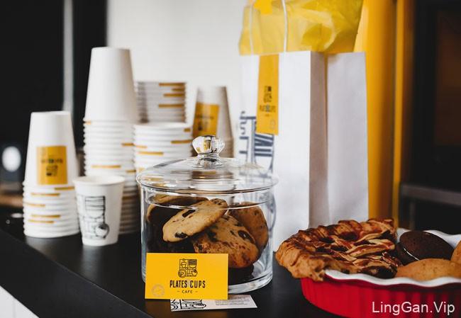 Plates & Cups咖啡店品牌形象vi设计