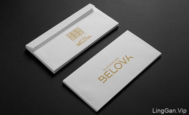 国外Alexandra Belova服装店VI形象设计作品