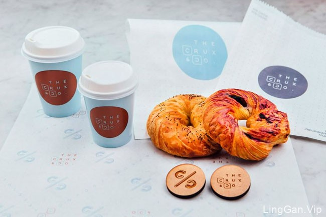 The Crux & Co.咖啡茶餐厅品牌形象设计