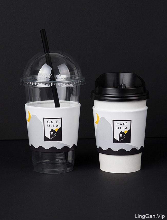 国外CAFE ULLA咖啡馆品牌形象设计