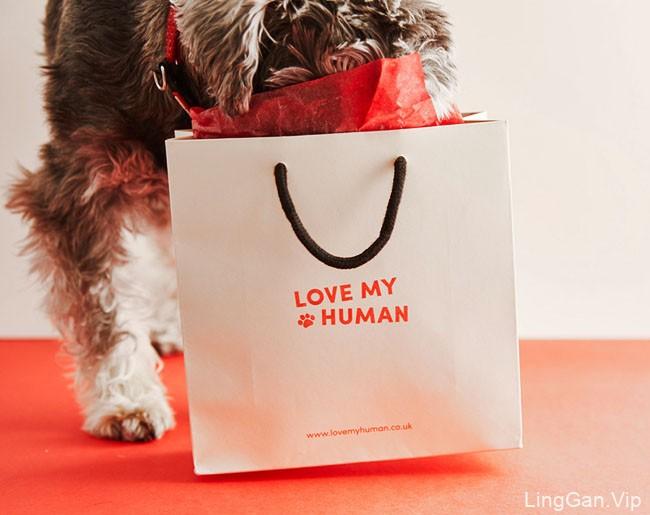 为宠物狗服务的Love My Human品牌形象设计