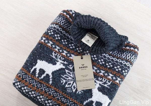 实木风格的Deerz服装品牌形象设计