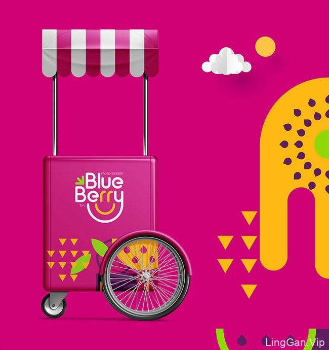 Blue Berry蓝莓甜品冷饮品牌形象设计
