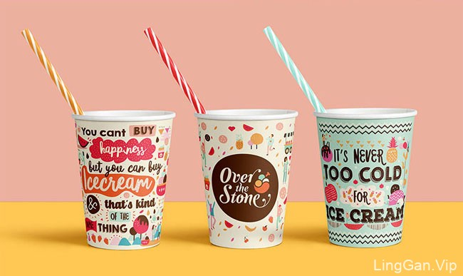 Over the Stone冰淇淋品牌形象设计
