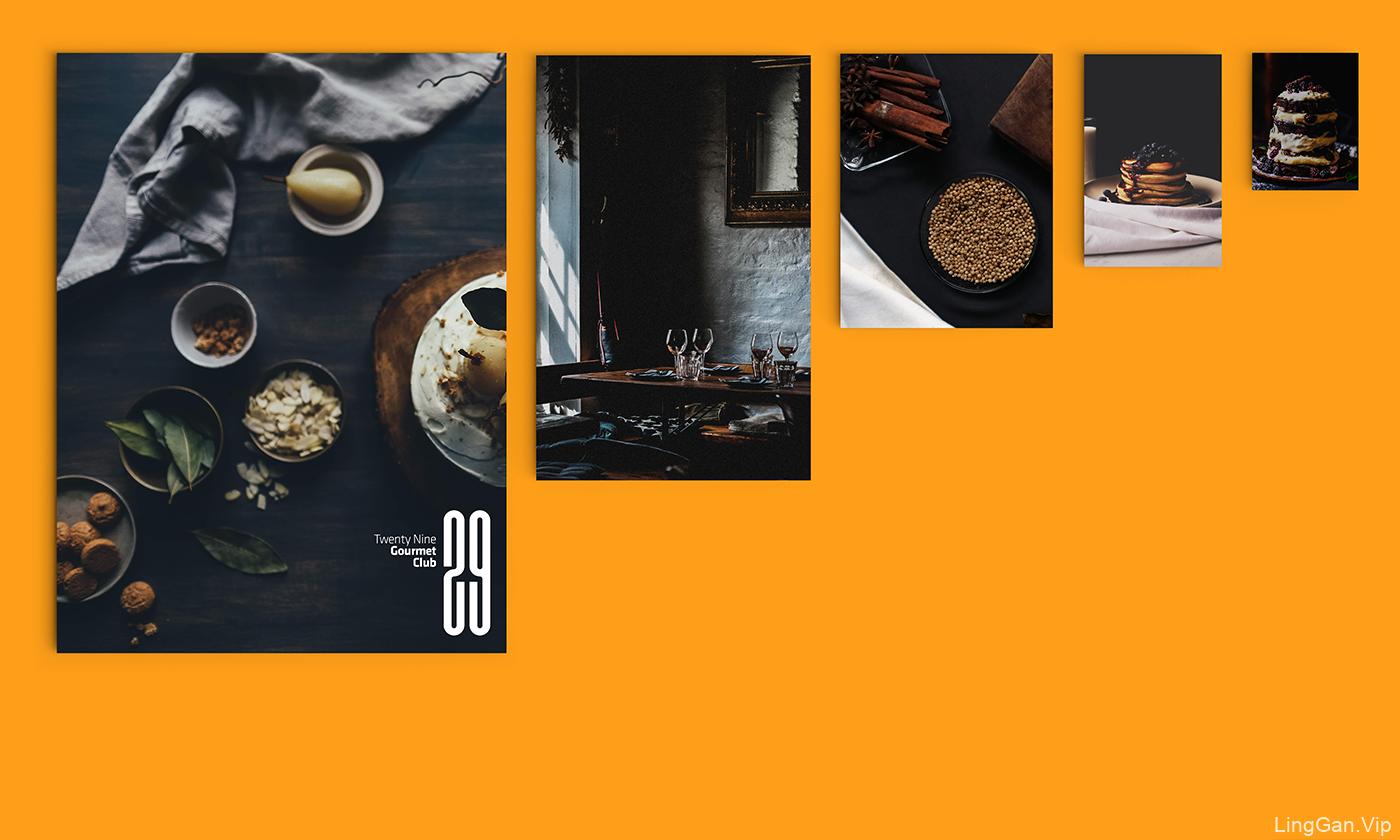 29美食俱乐部品牌VI设计