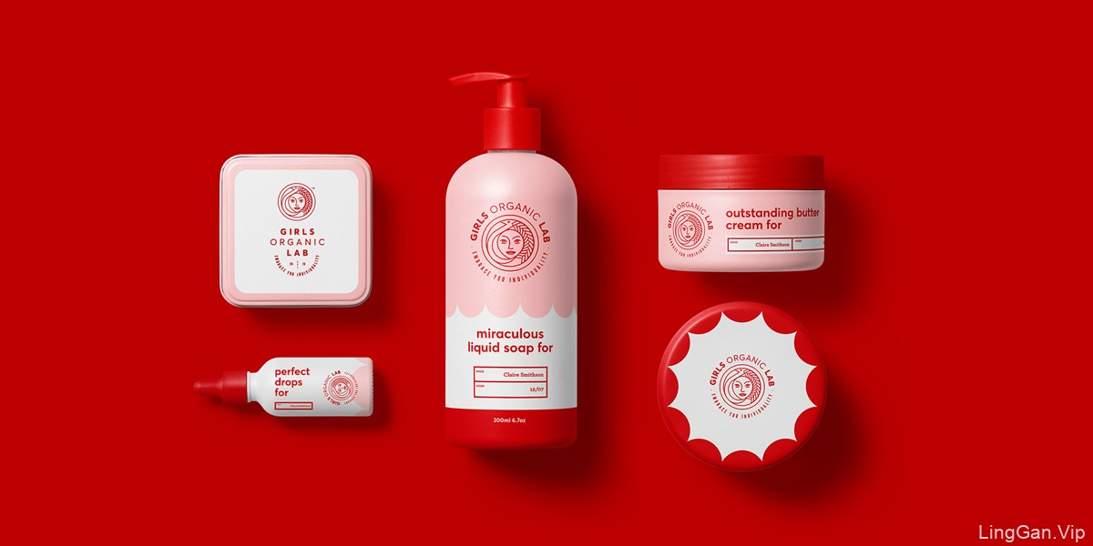 采用人像元素的护肤品牌VI设计