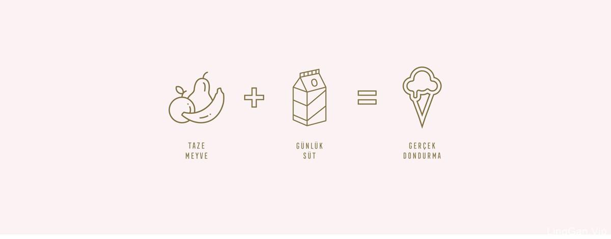 极简的可爱!冰淇淋品牌VI视觉