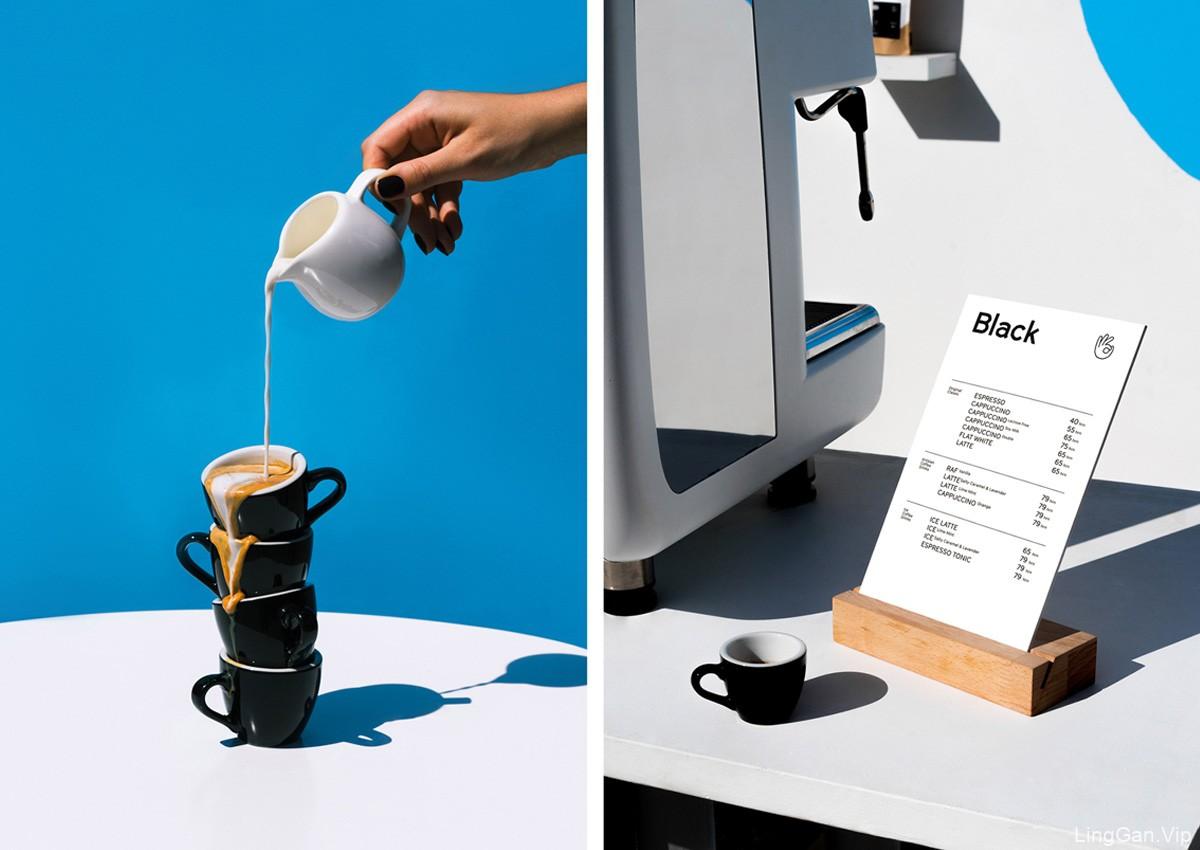 简约蓝色!咖啡品牌VI设计