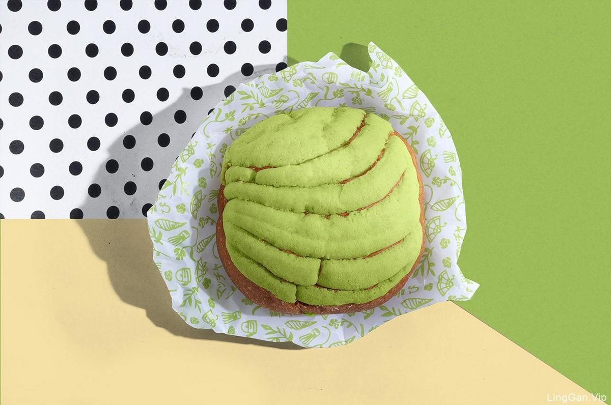 清新绿色!抹茶冰淇淋品牌VI设计