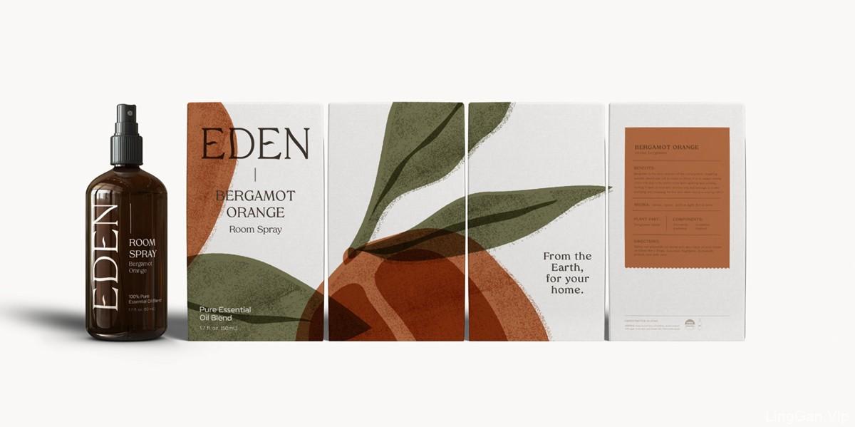 天然植物系!香薰芳疗品牌VI设计