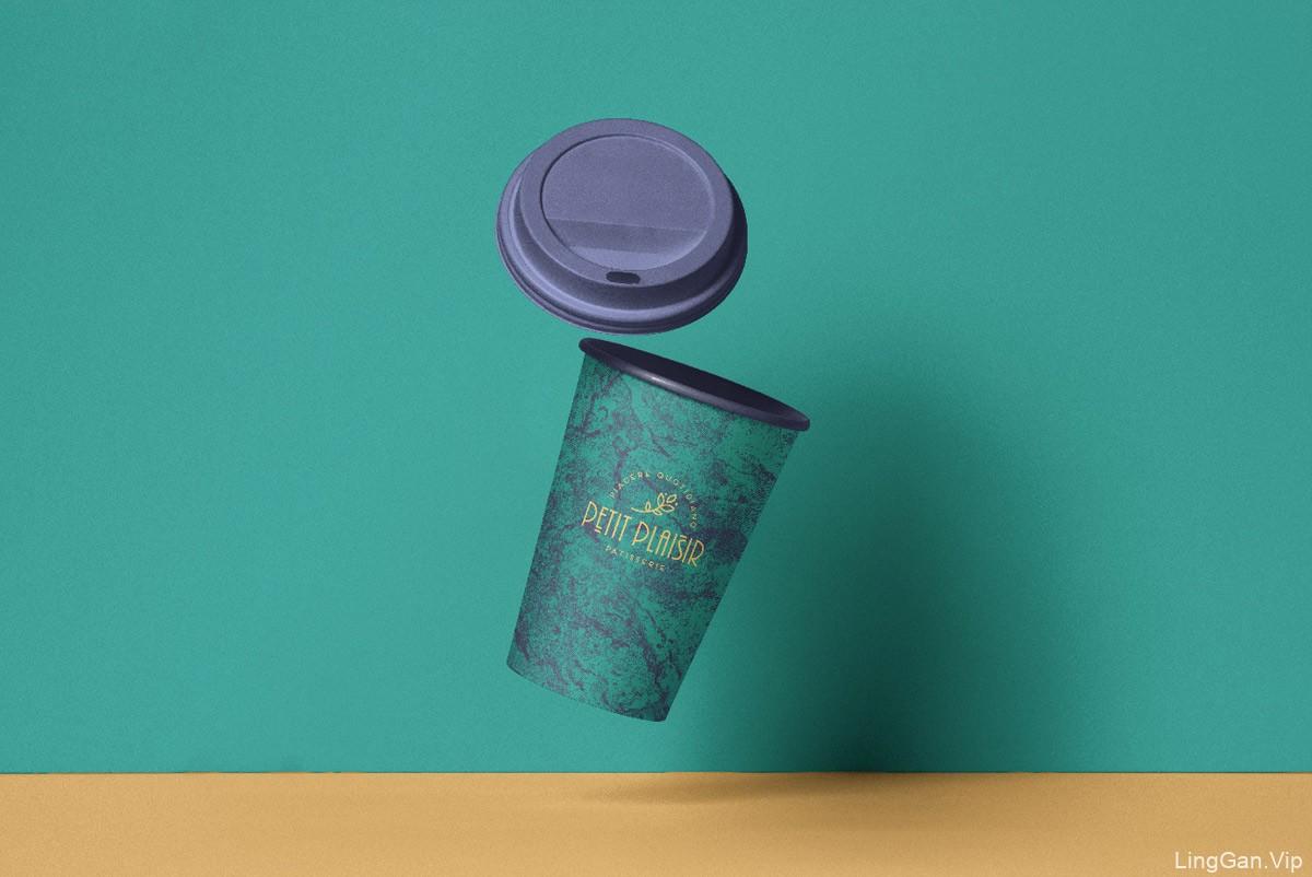 强烈对比色!糕点咖啡店品牌VI设计