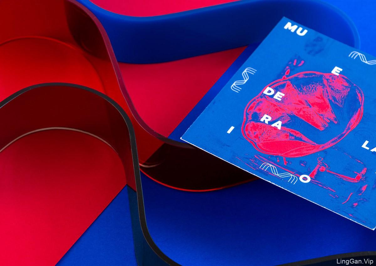 梦幻红蓝!博物馆视觉VI设计