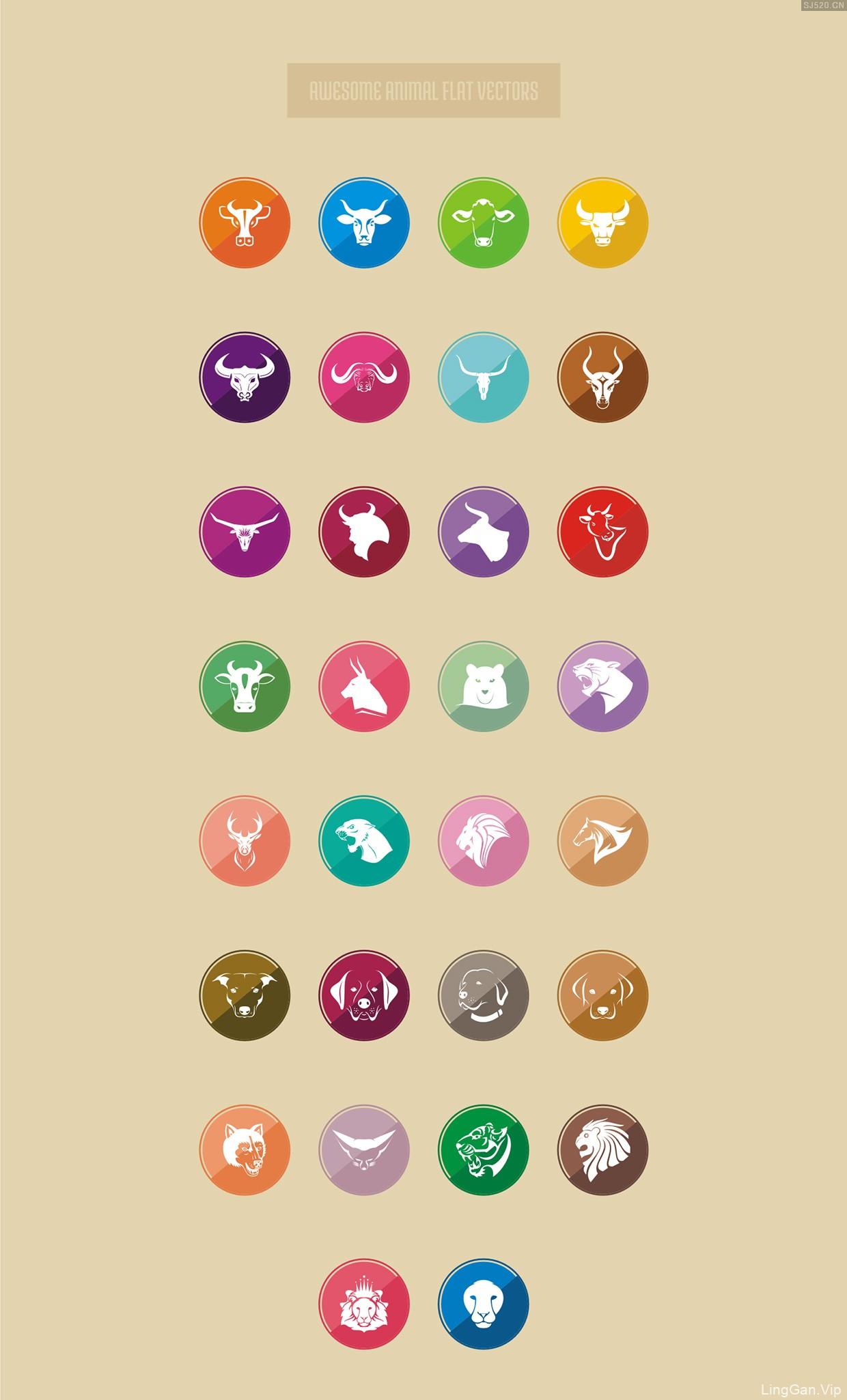 30个惊人的动物图标